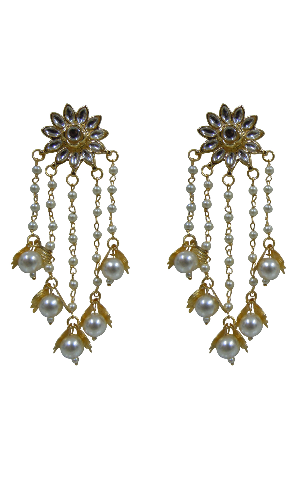 Floral Pearl Shower Earrings - Shop Online