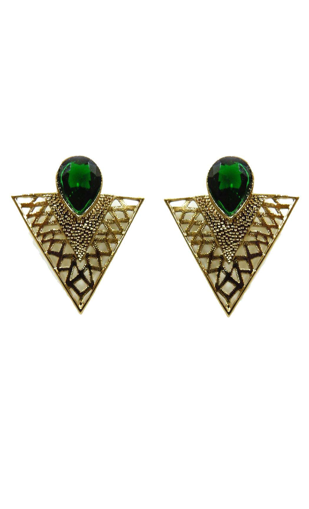 Jade Triangle Earrings - Shop Online