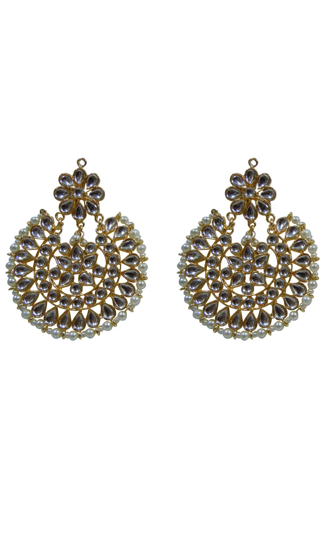 Gold Embellished Earrings - Shop Online