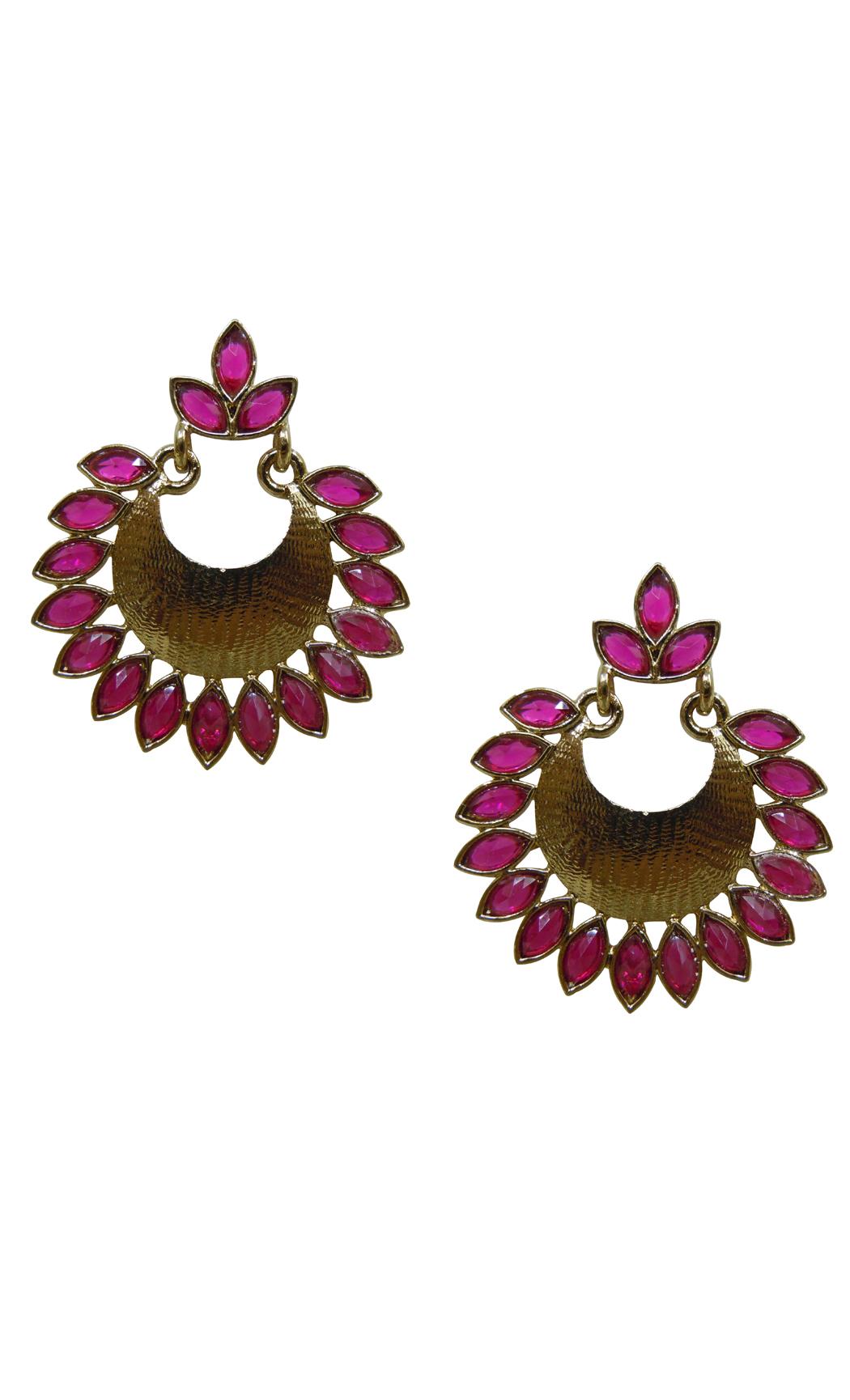 Scarlet Gold Earrings