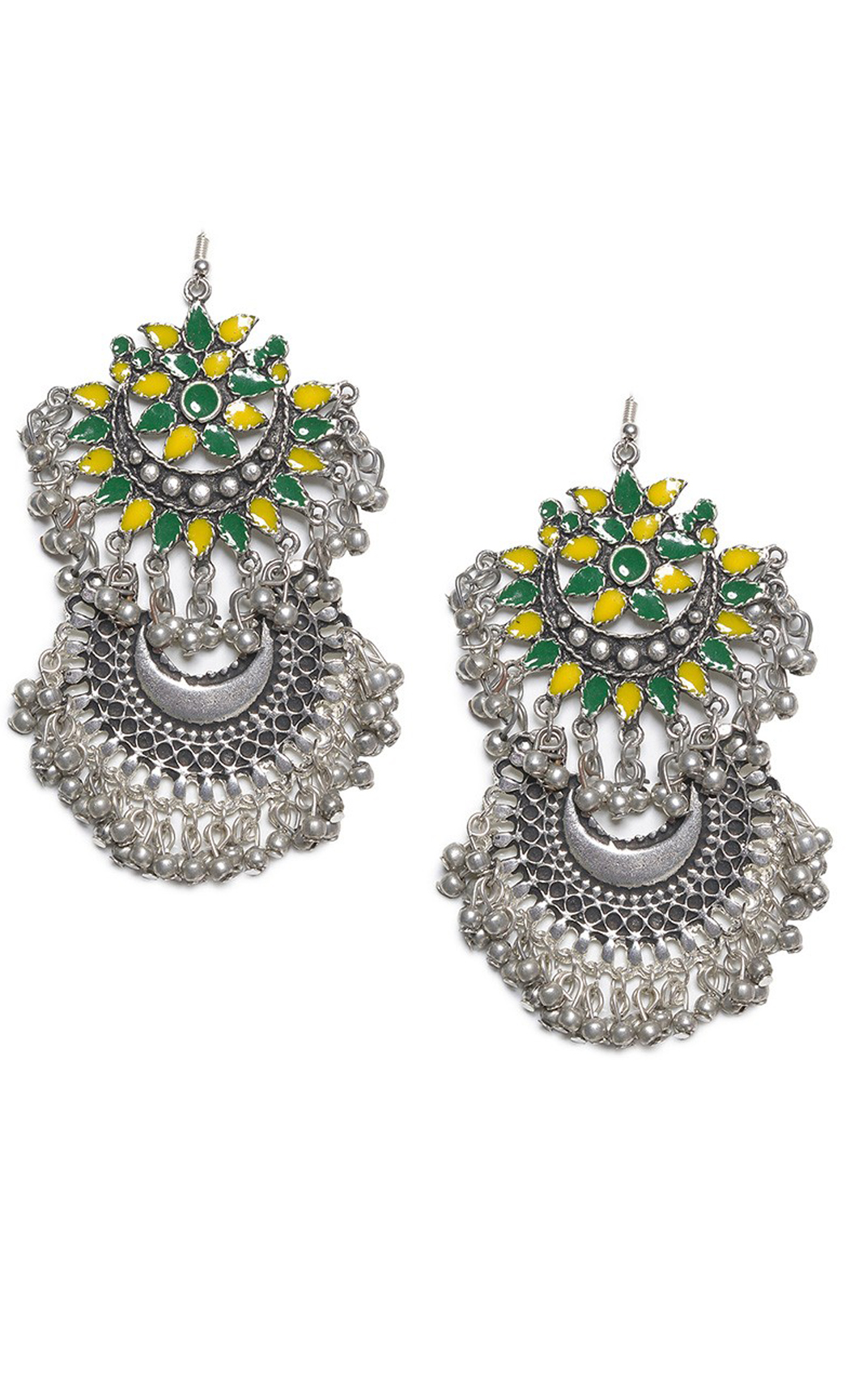 Green Multi Anaya Chandbali Earrings - Shop Online