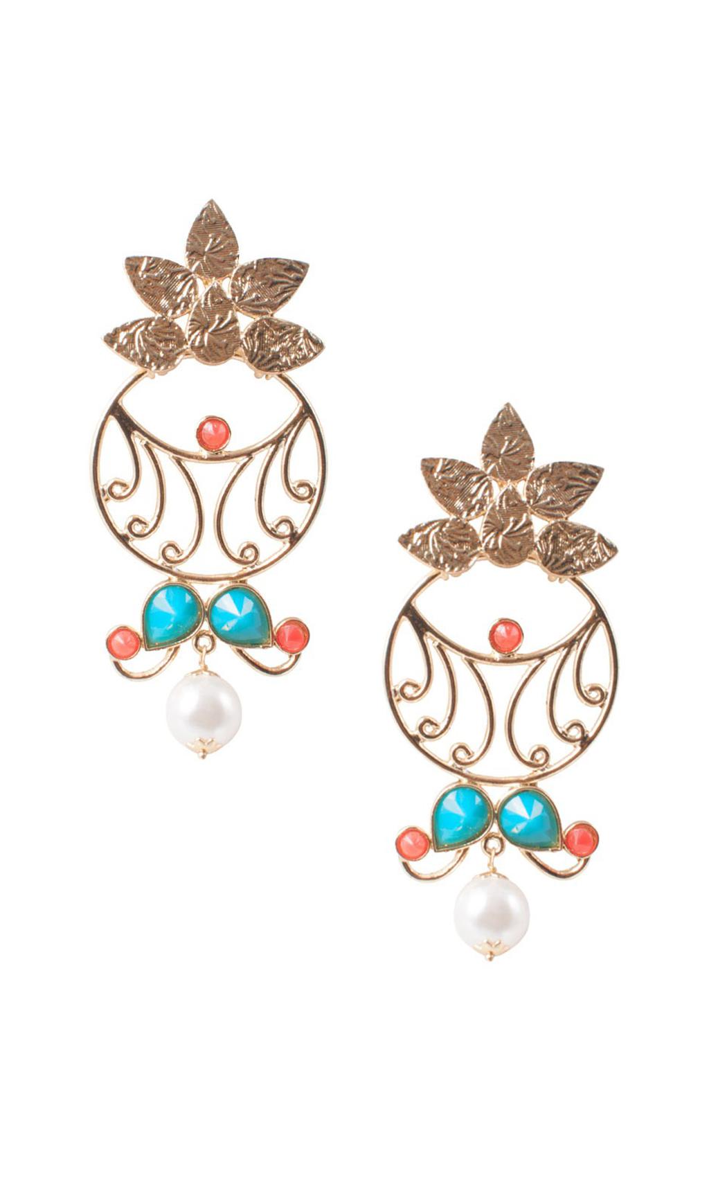Tangerine Floret Earrings - Shop Online