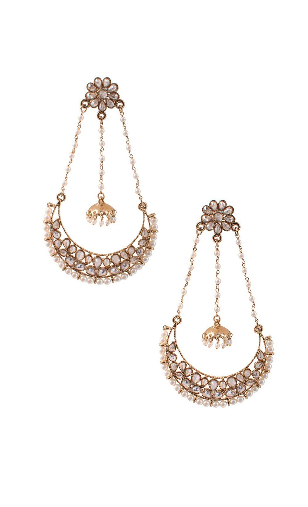 Pearl Encrusted Chandelier Earrings - Shop Online