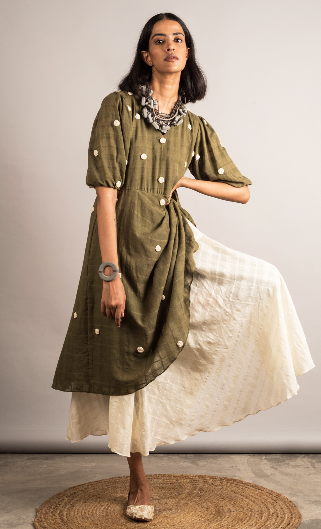 Moss Green Layered Tunic. Buy Online.