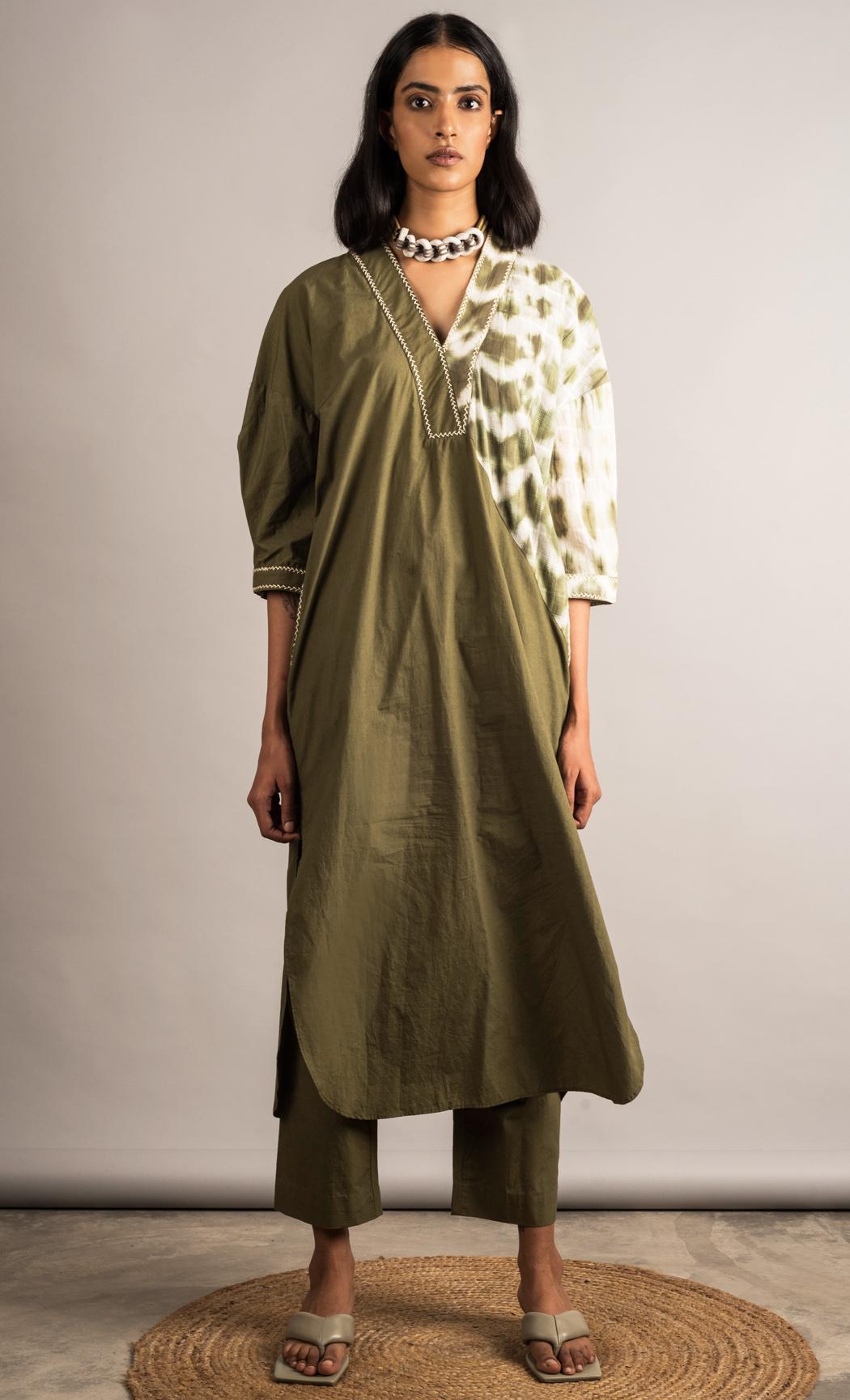 Moss Green Tunic. Buy Online.