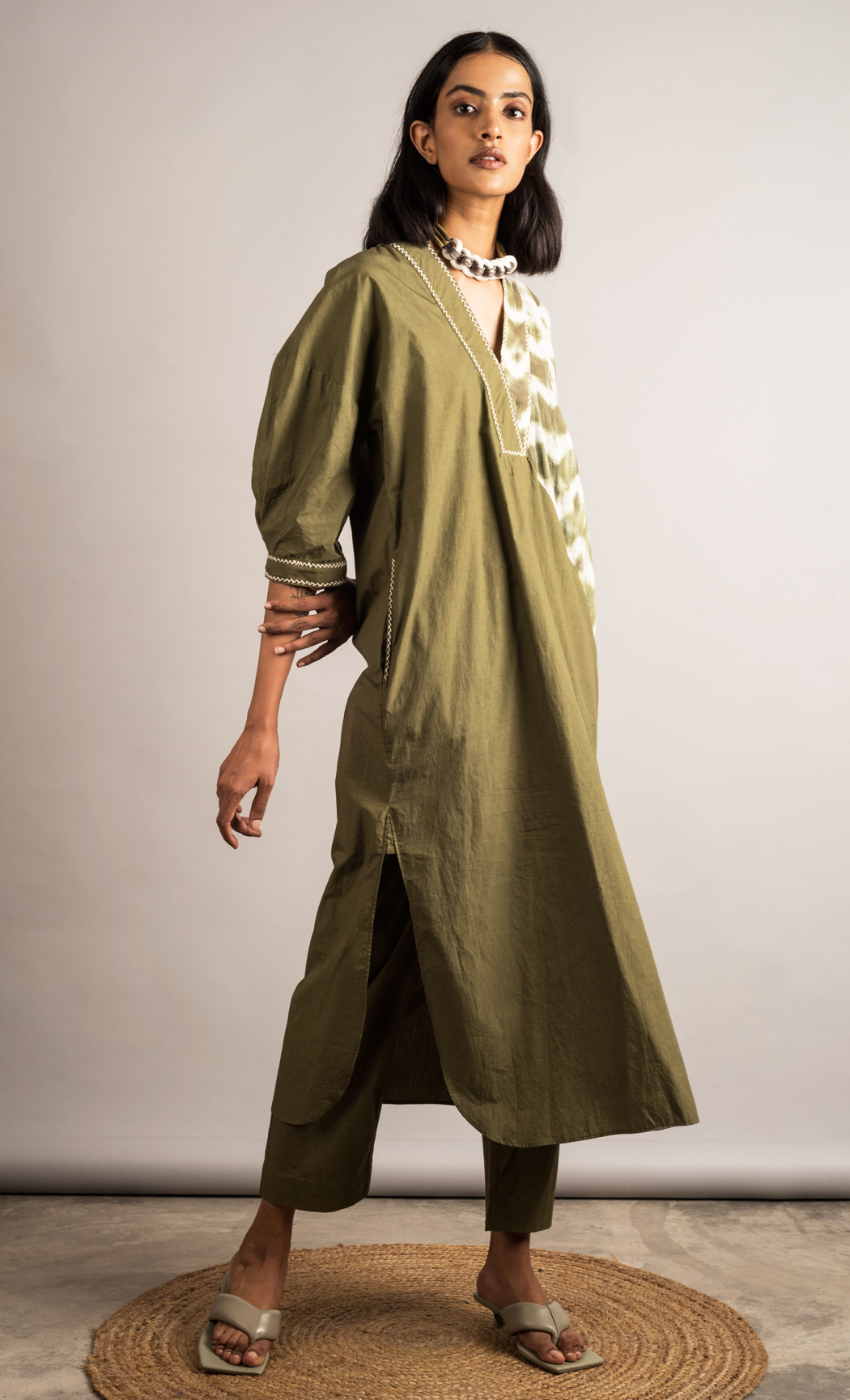 Moss Green Tunic Set. Buy Online.