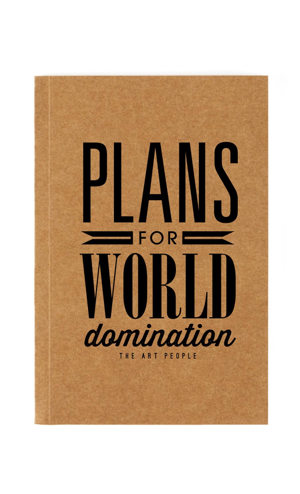 Brown World Domination Notebook. Buy Online.