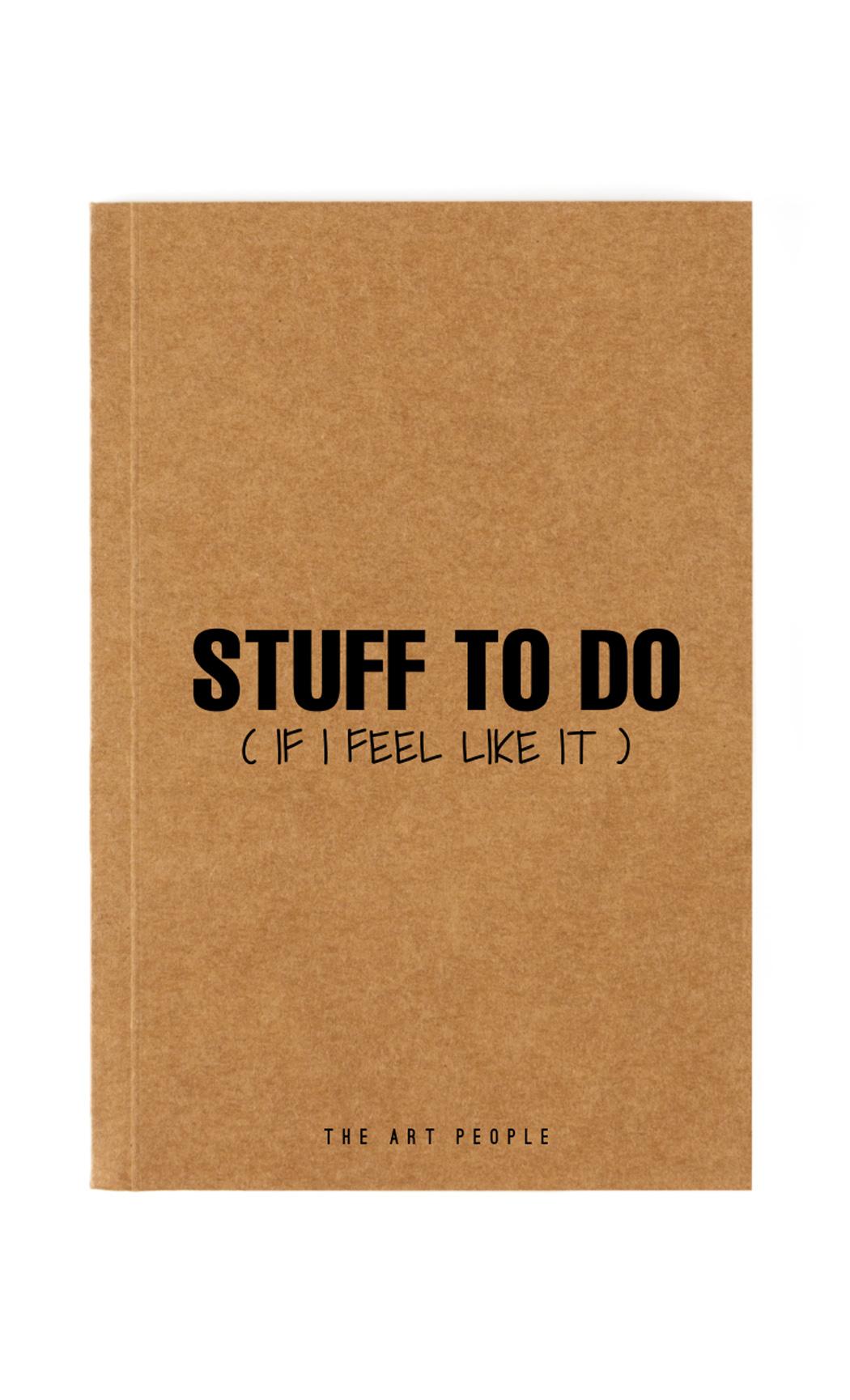 Brown Stuff To Do Notebook. Buy Online.