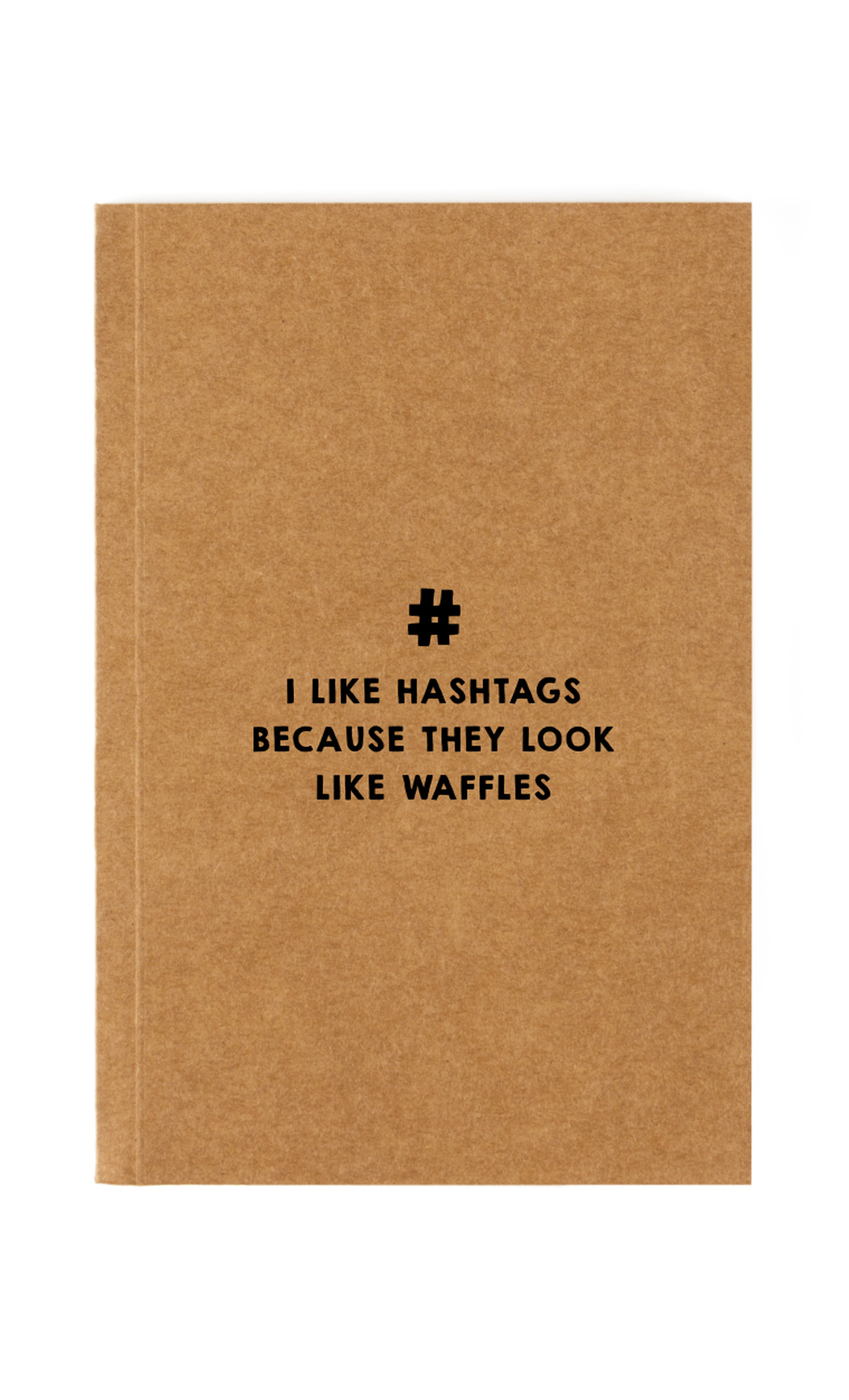 Brown Hashtags Notebook. Buy Online.