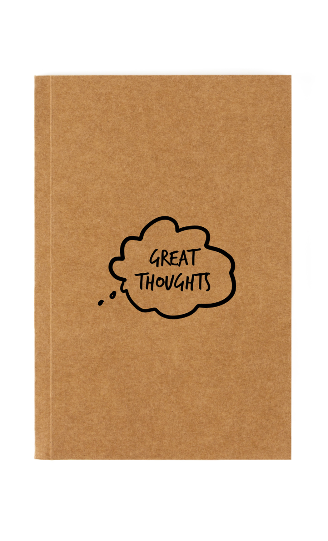 Brown Great Thoughts Notebook. Buy Online.