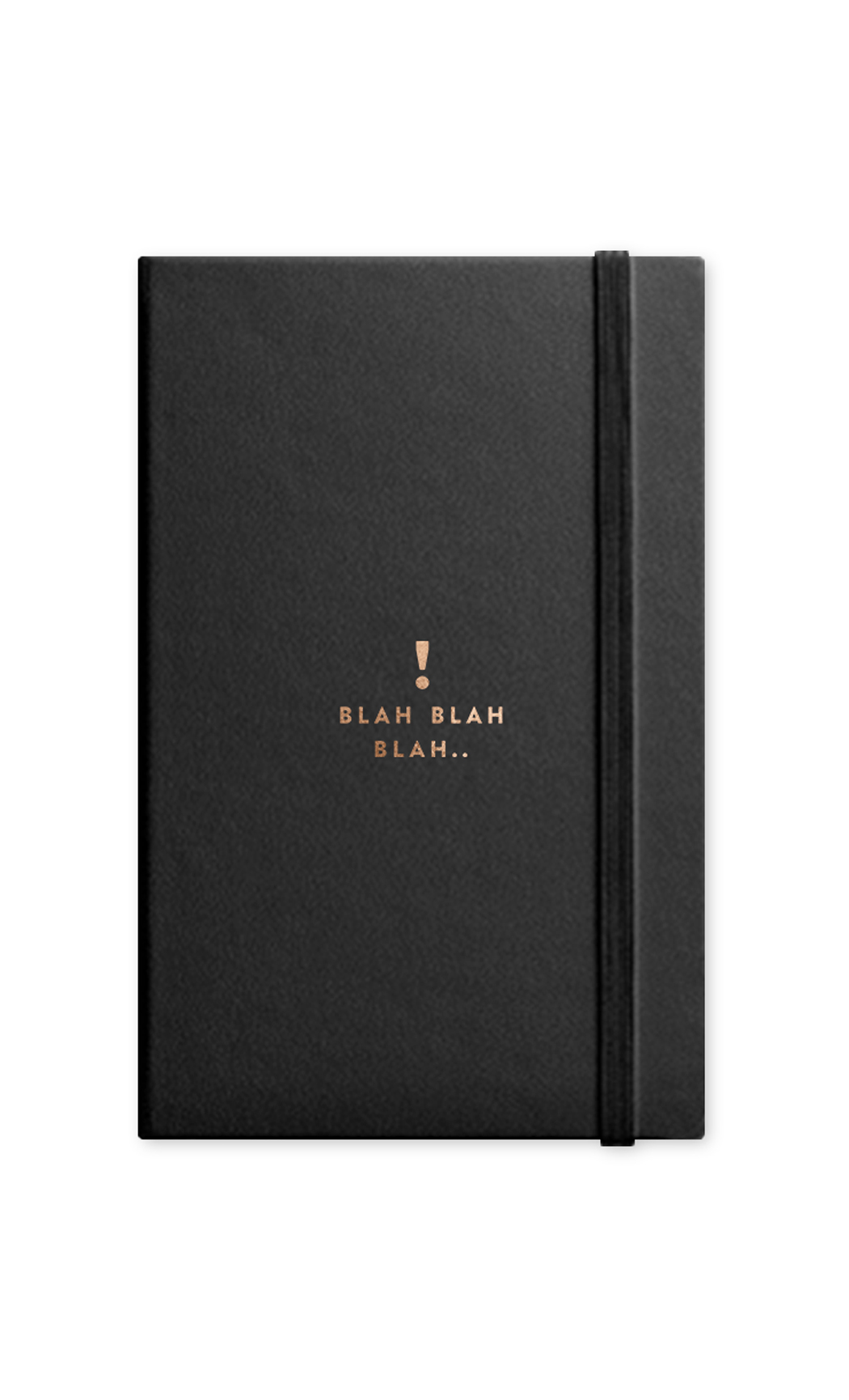 Black Blah Journal with Elastic Band. Buy Online.