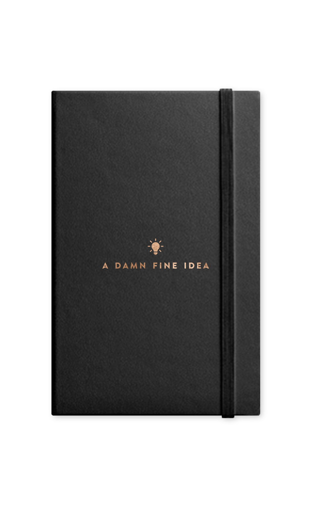 Black Idea Journal with Elastic Band. Buy Online.