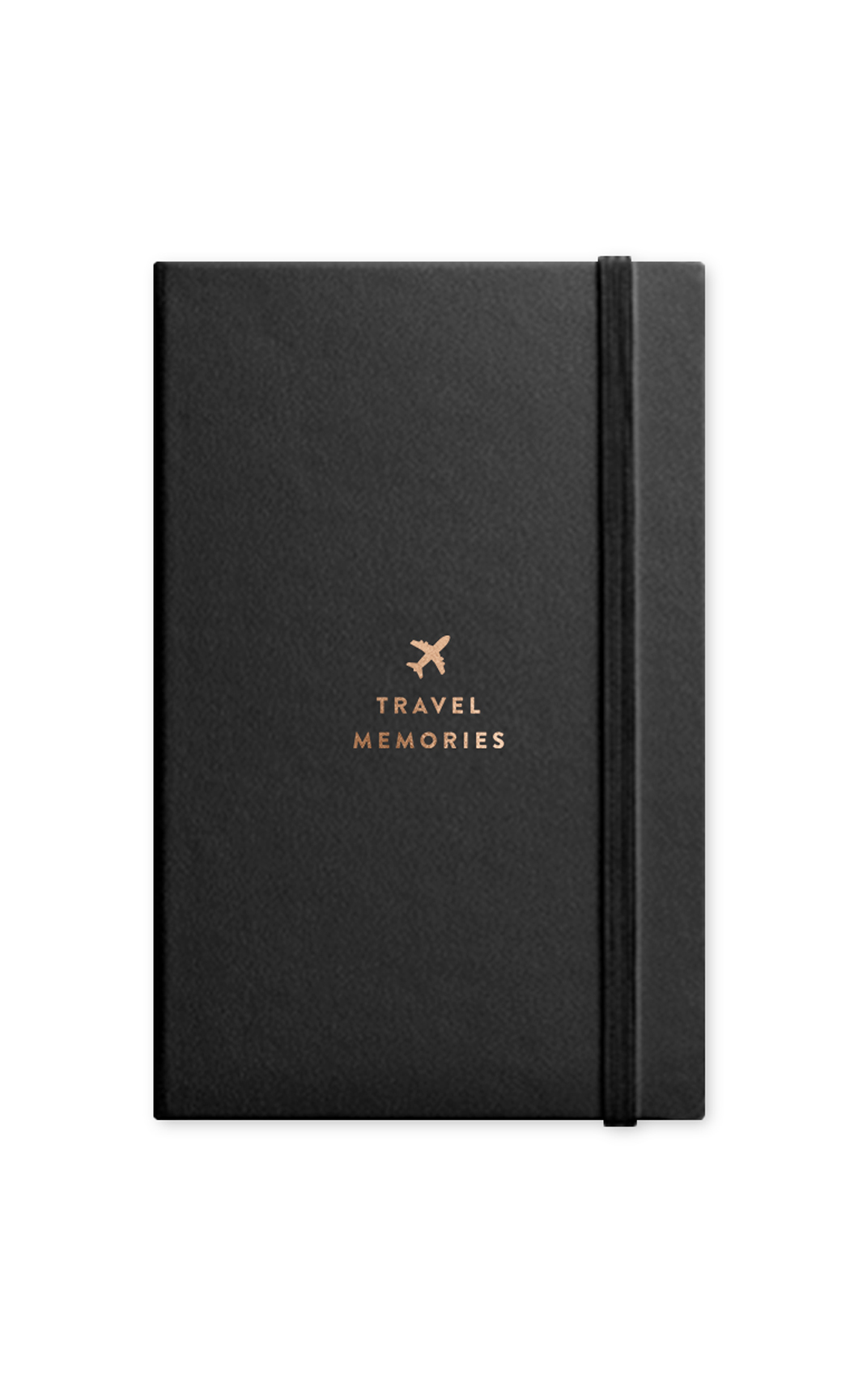 Black Travel Journal with Elastic Band. Buy Online.