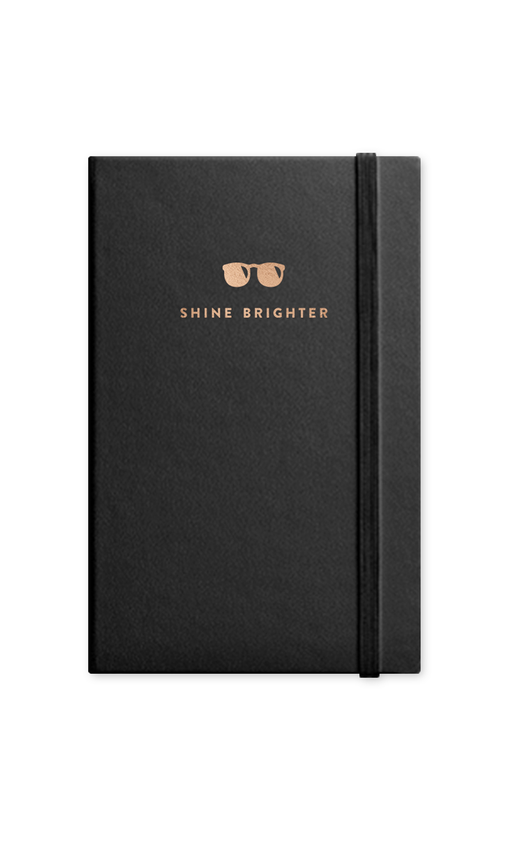 Black Shine Journal With Elastic Band. Buy Online.