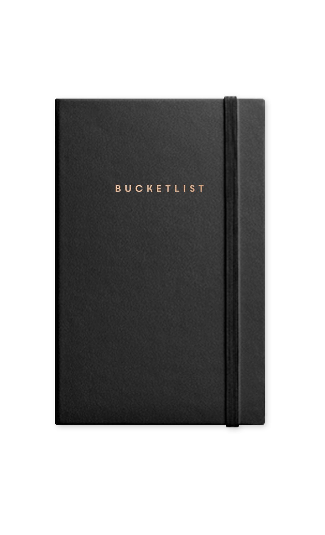Black Bucketlist Journal With Elastic Band. Buy Online.