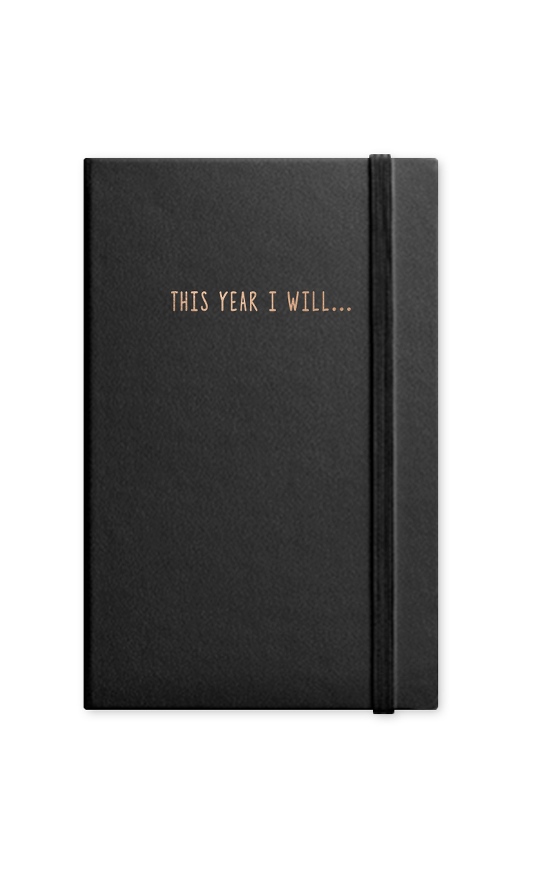 Black This Year I Will Journal With Elastic Band. Buy Online.