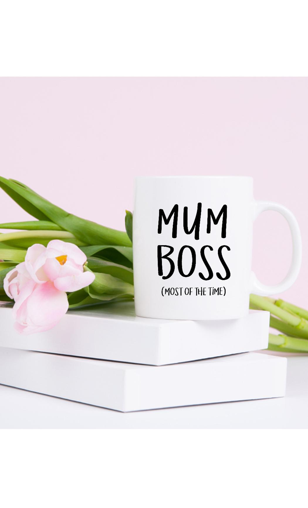 White Mum Boss Mug. Buy Online.