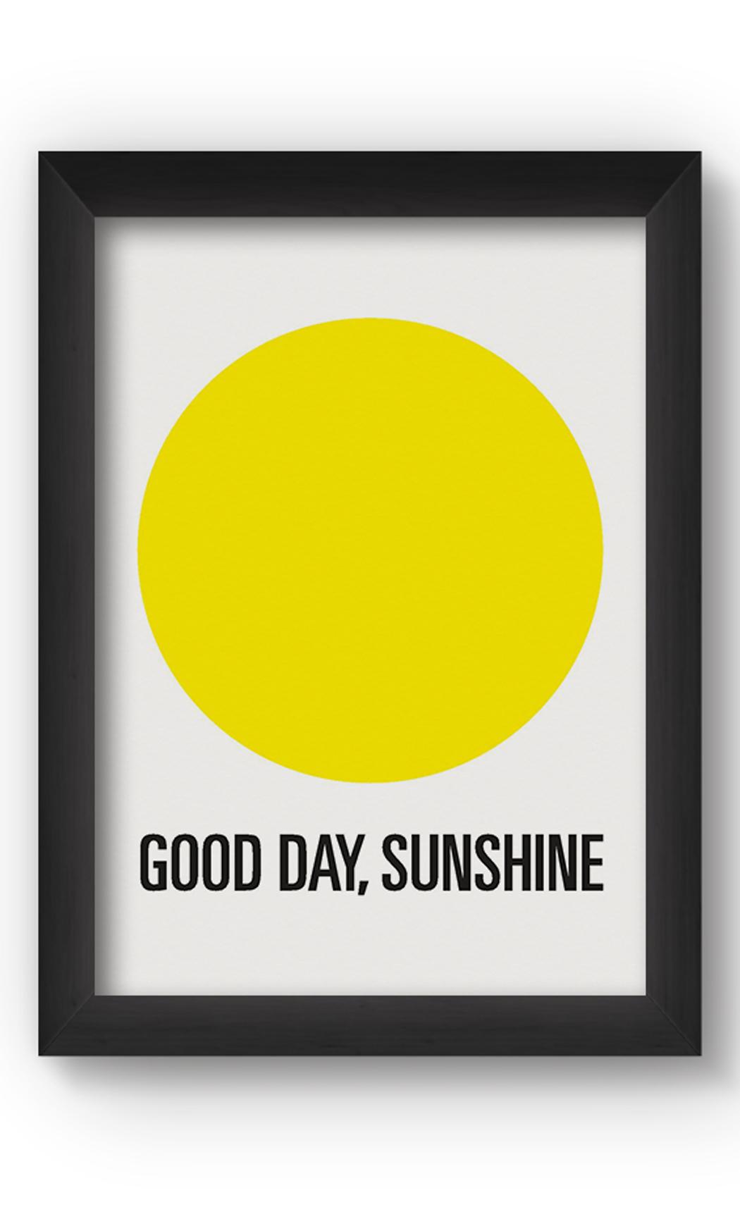 Black & White GOOD DAY Poster. Buy Online.