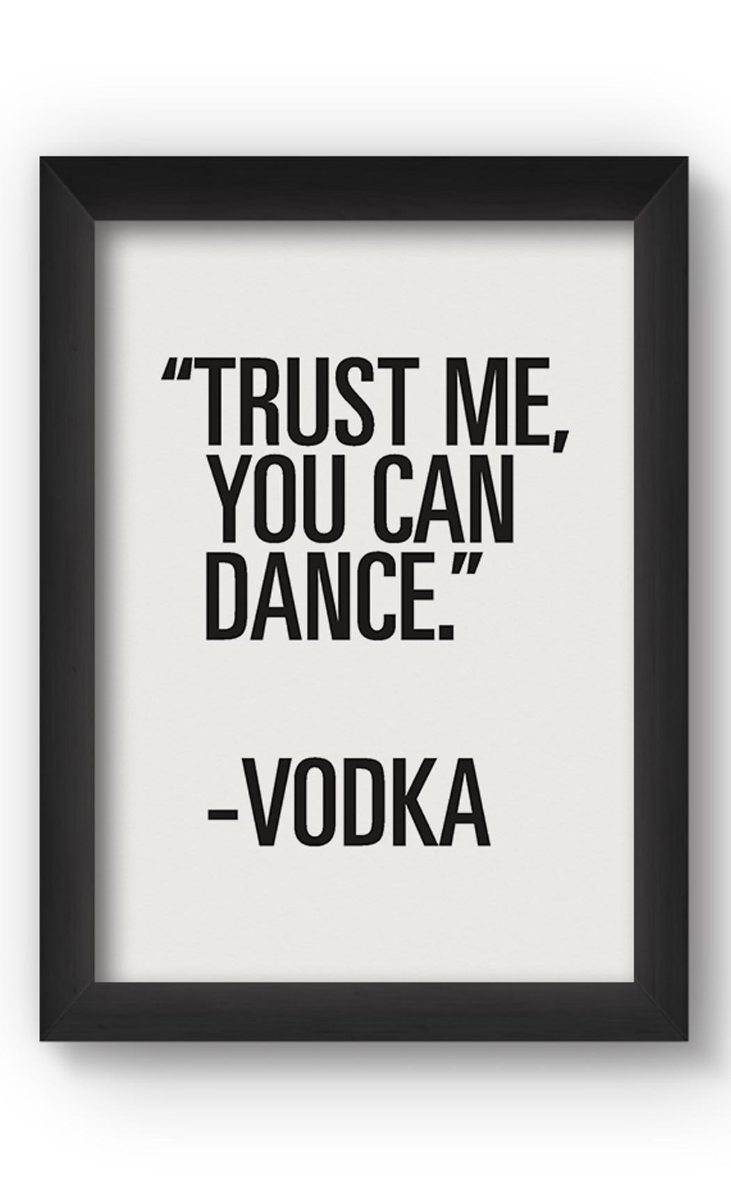 Black & White TRUST ME Poster. Buy Online.
