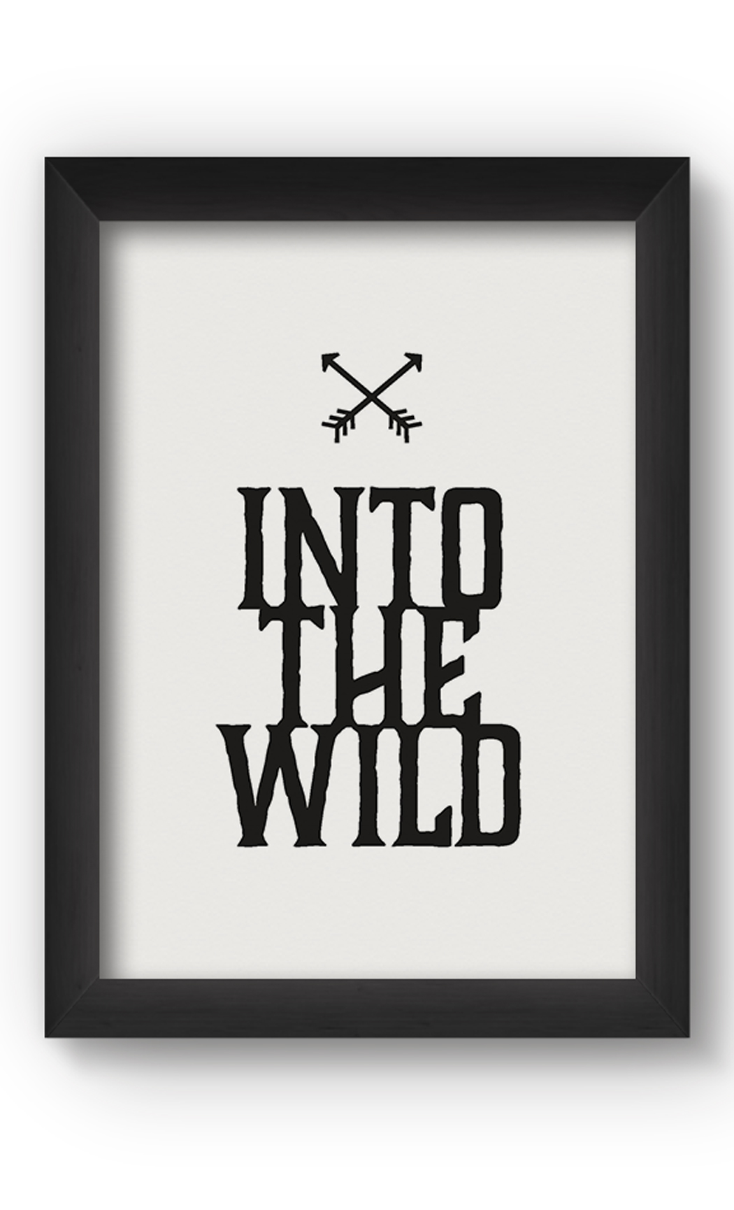 Black & White INTO THE WILD Poster. Buy Online.