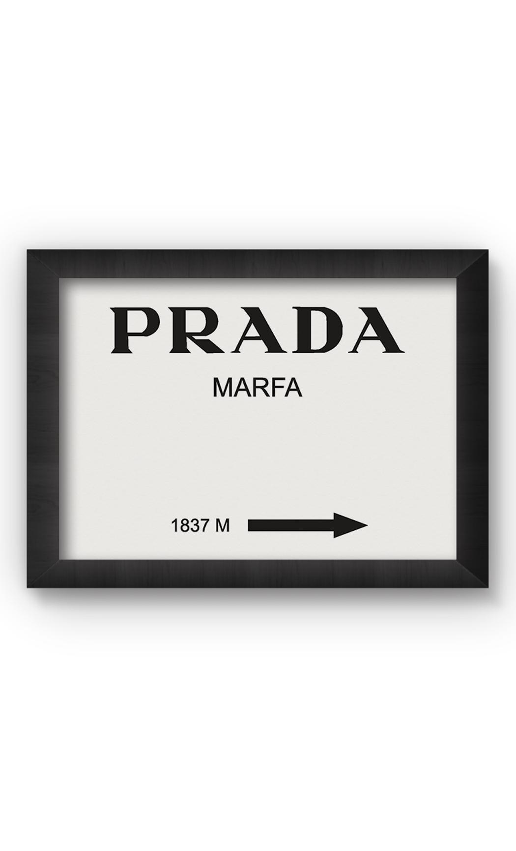 Black & White PRADA Poster. Buy Online.