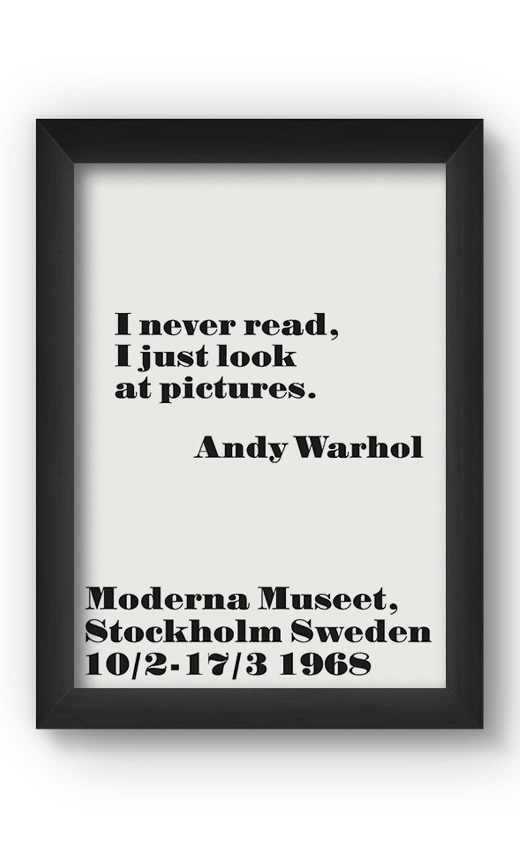 Black & White I NEVER READ Poster. Buy Online.