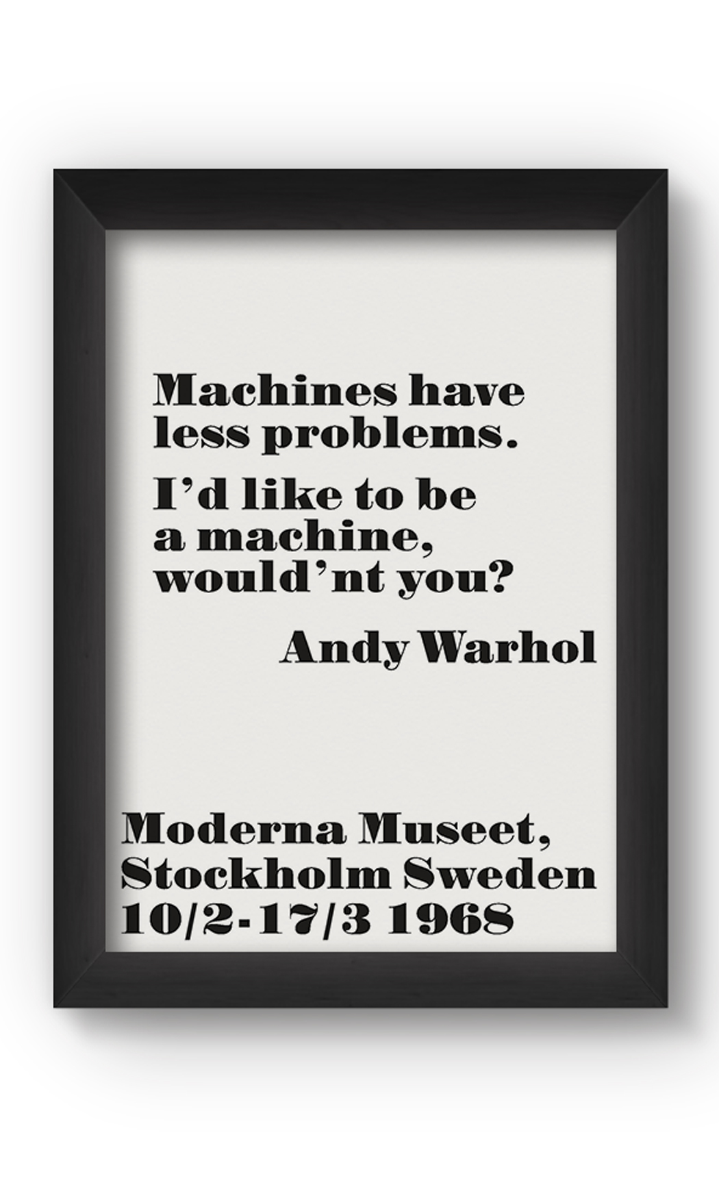 Black & White MACHINES Poster. Buy Online.