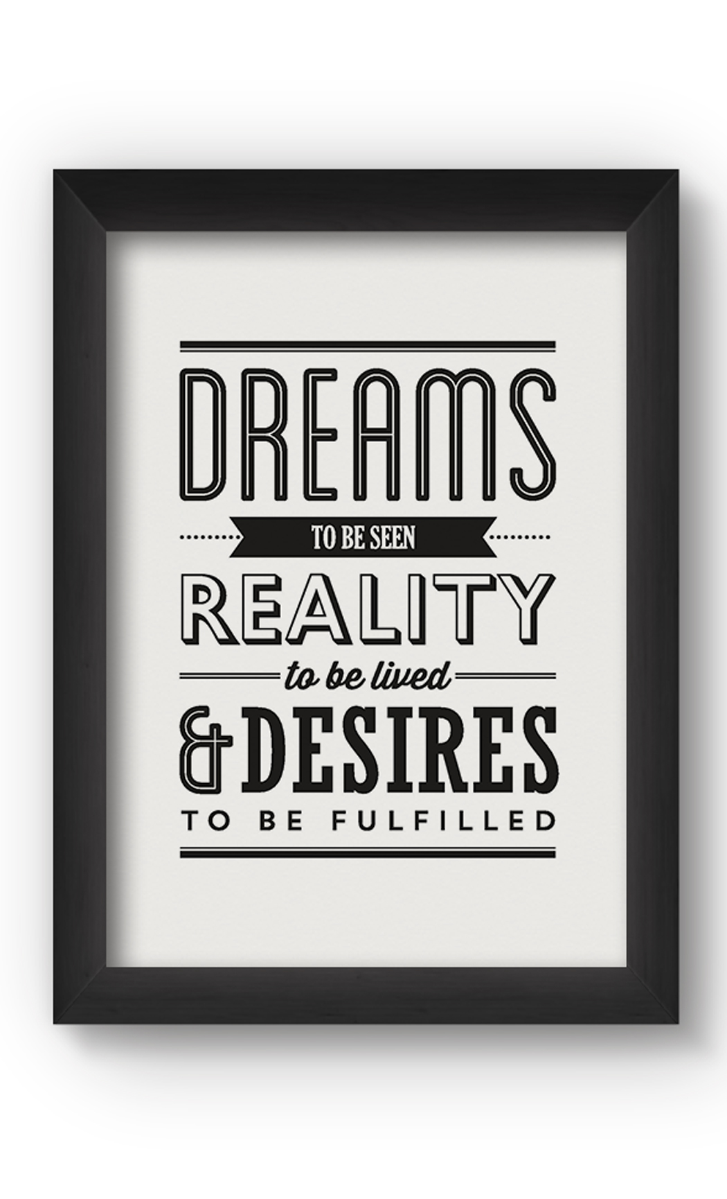 Black & White DREAMS Poster. Buy Online.