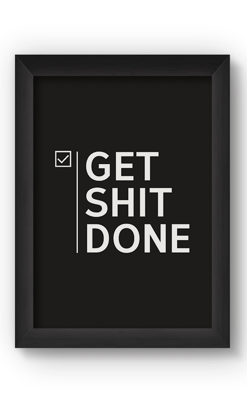 Black & White GET DONE Poster. Buy Online.