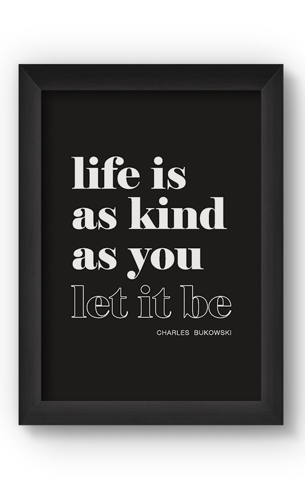 Black & White LIFE IS Poster. Buy Online.