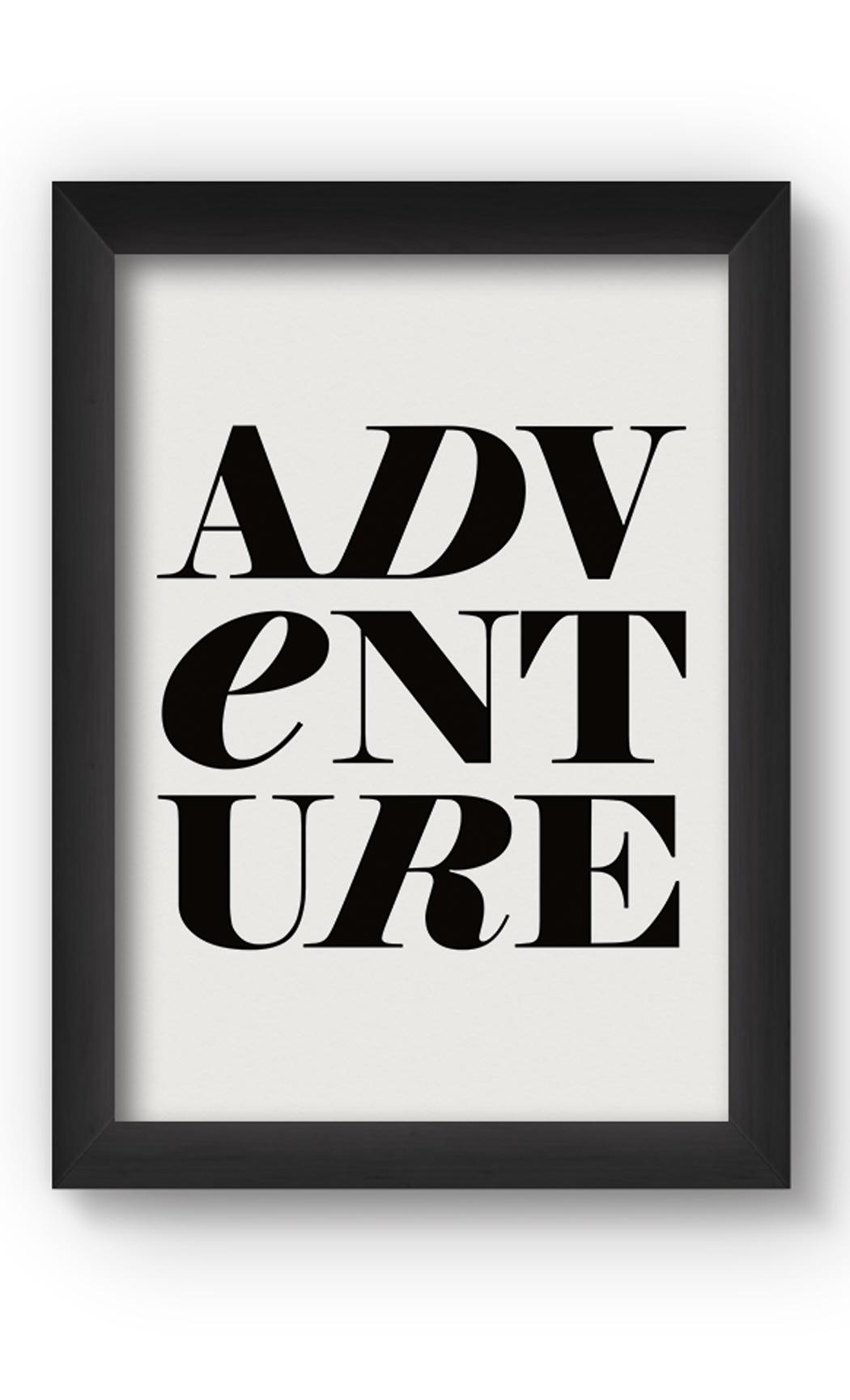 Black & White ADVENTURE Poster. Buy Online.