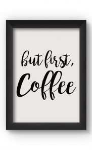 Black & White COFFEE Poster. Buy Online.