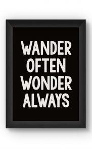 Black & White WANDER Poster. Buy Online.