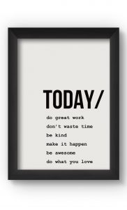 Black & White TODAY Poster. Buy Online.