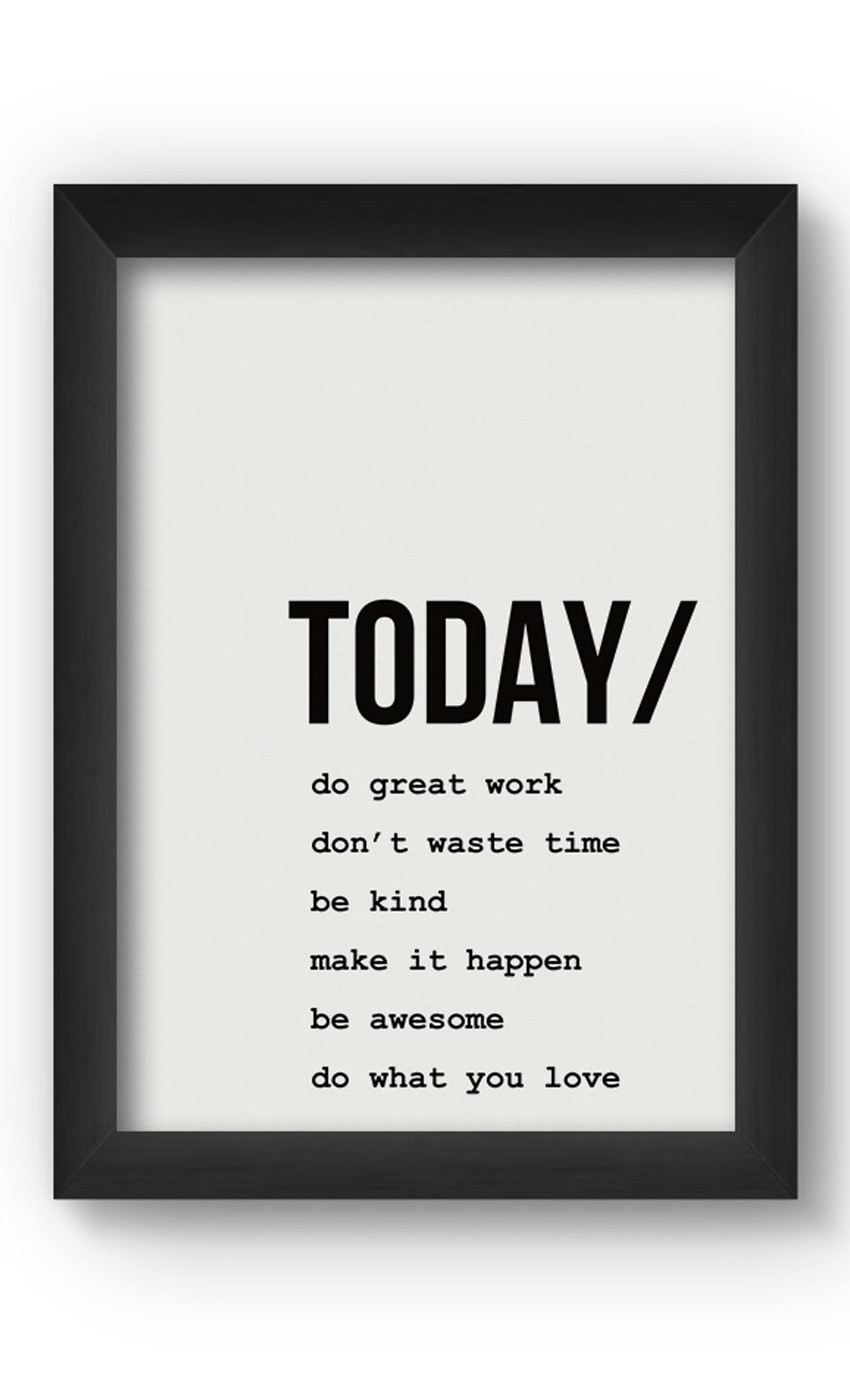 Black & White TODAY Poster. Buy Online.