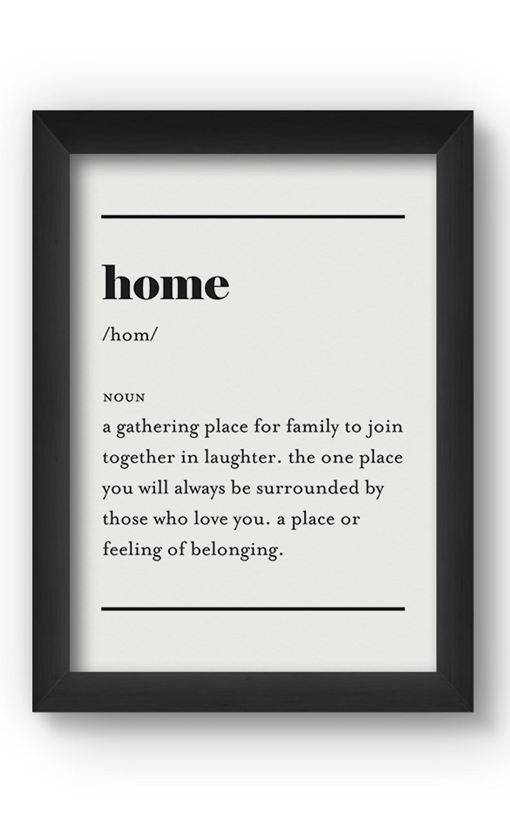 Black & White HOME Poster. Buy Online.