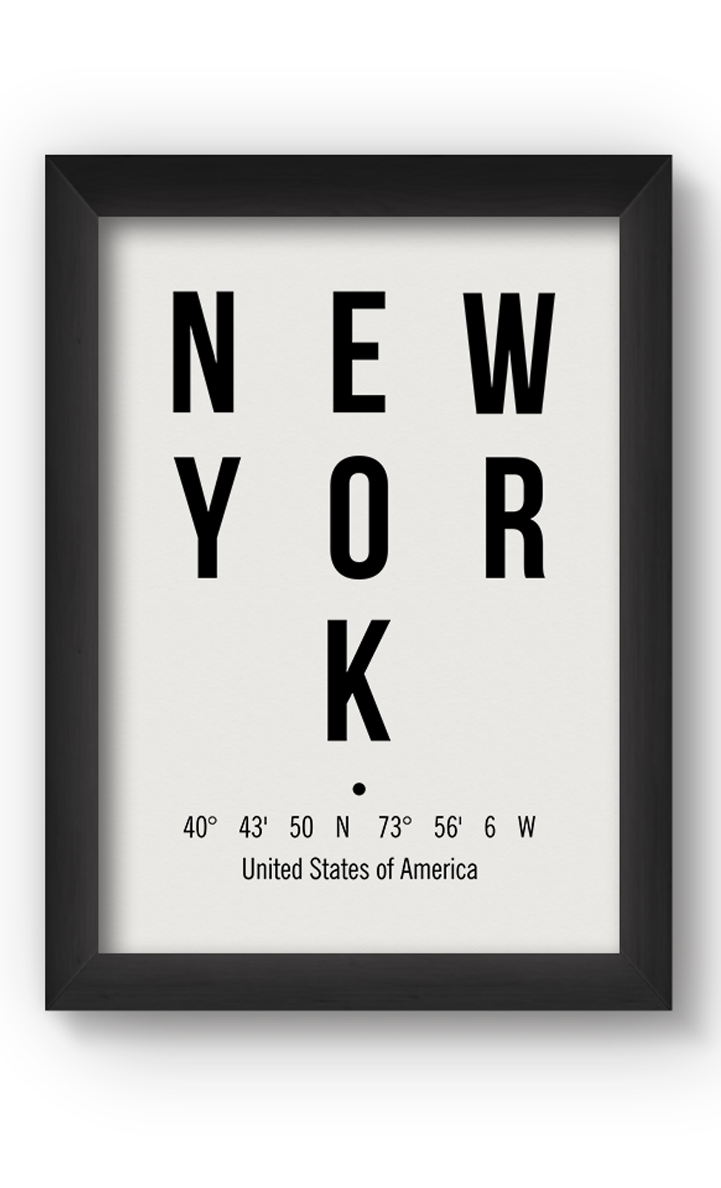 Black & White NEW YORK Poster. Buy Online.