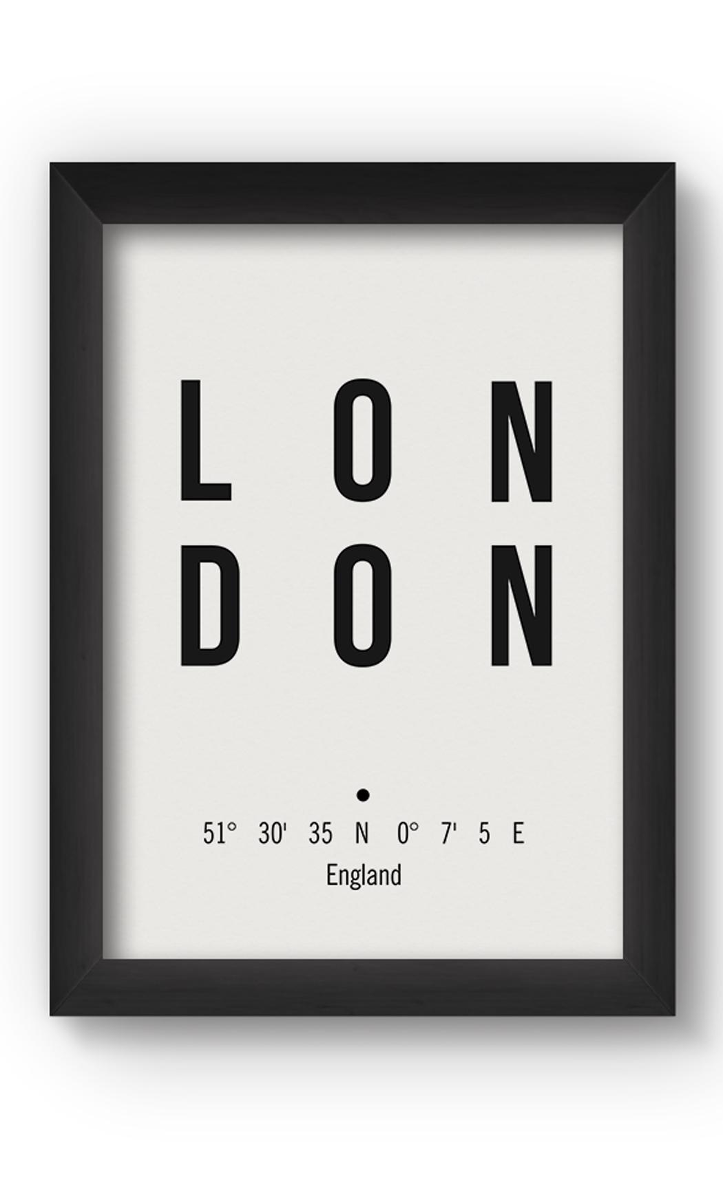 Black & White LONDON Poster. Buy Online.