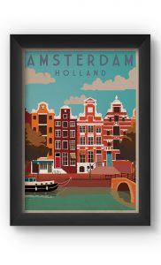 Multicolor AMSTERDAM VINTAGE Poster. Buy Online.