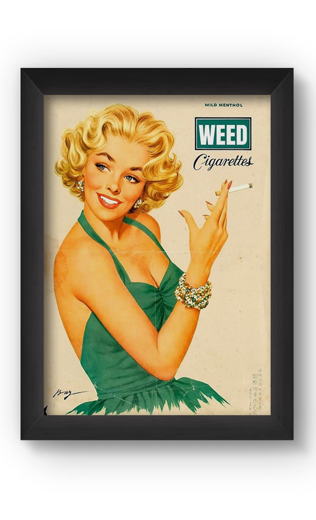Multicolor WEED VINTAGE Poster. Buy Online.
