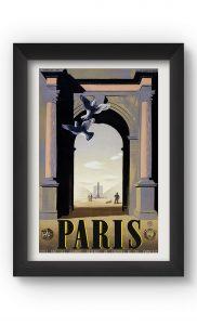Multicolor PARIS VINTAGE Poster. Buy Online.