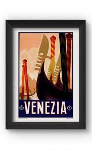 Multicolor VENEZIA VINTAGE Poster. Buy Online.