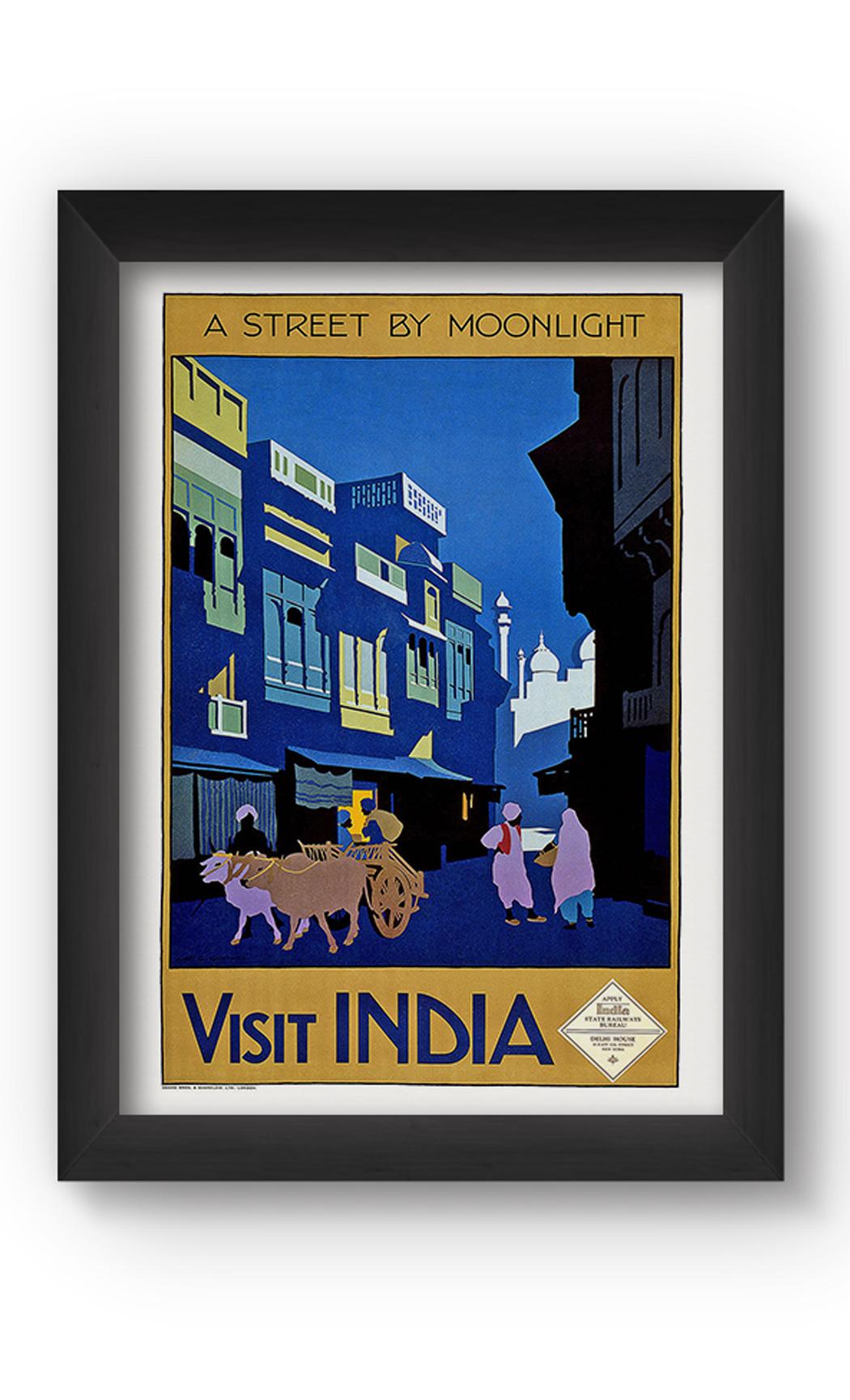 Multicolor INDIA VINTAGE Poster. Buy Online.