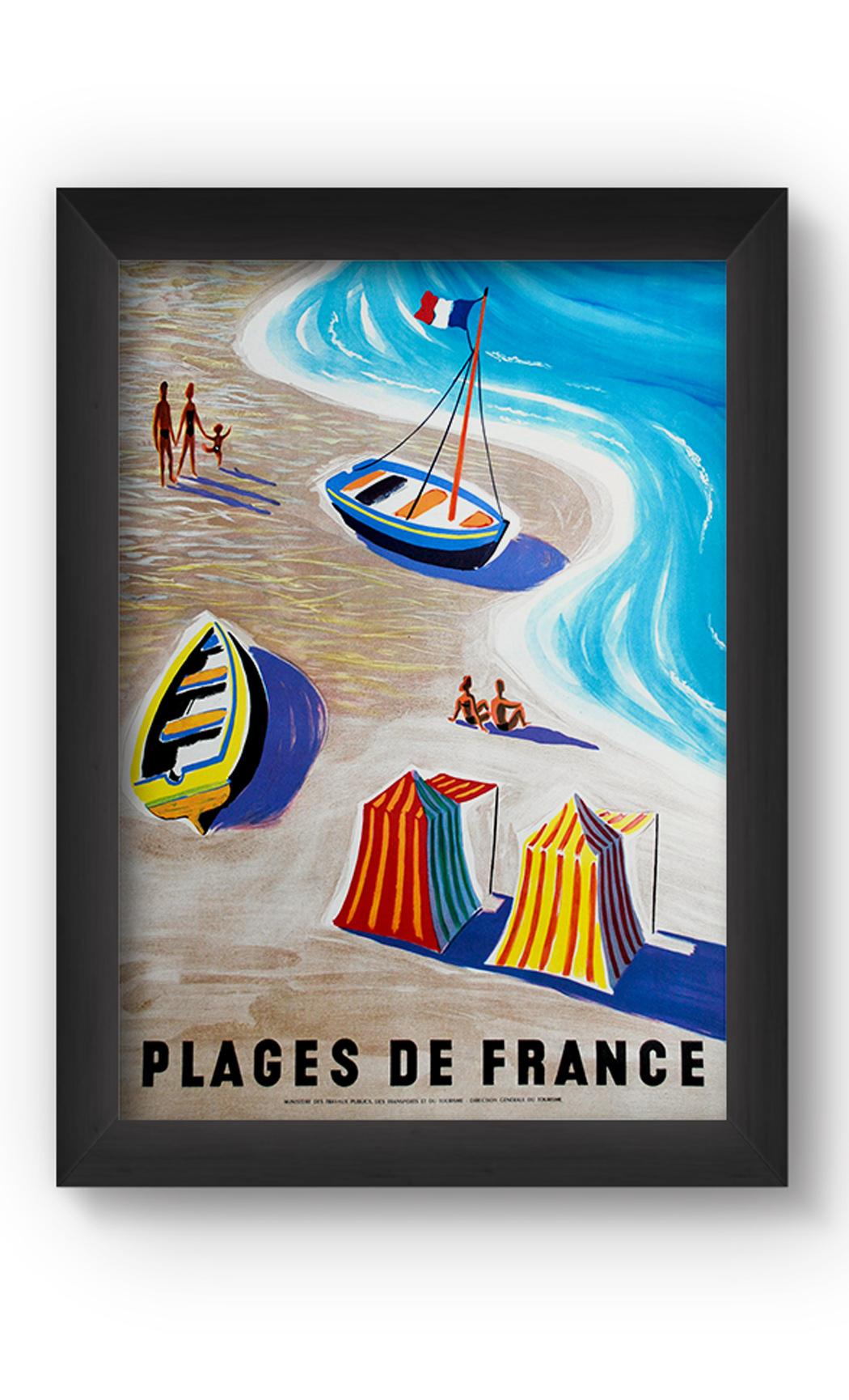 Multicolor FRANCE VINTAGE Poster. Buy Online.