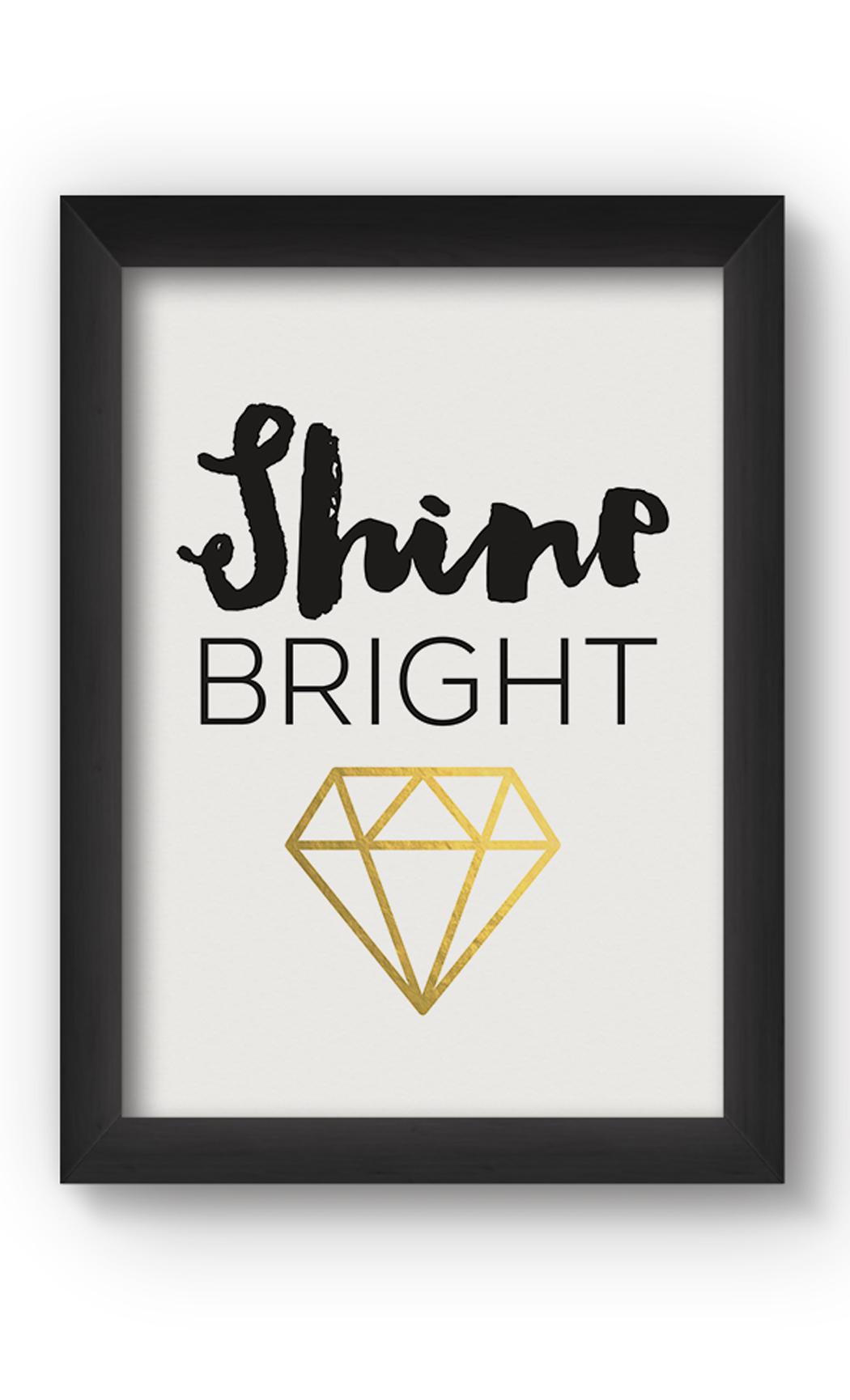 Multicolor SHINE BRIGHT Poster. Buy Online.