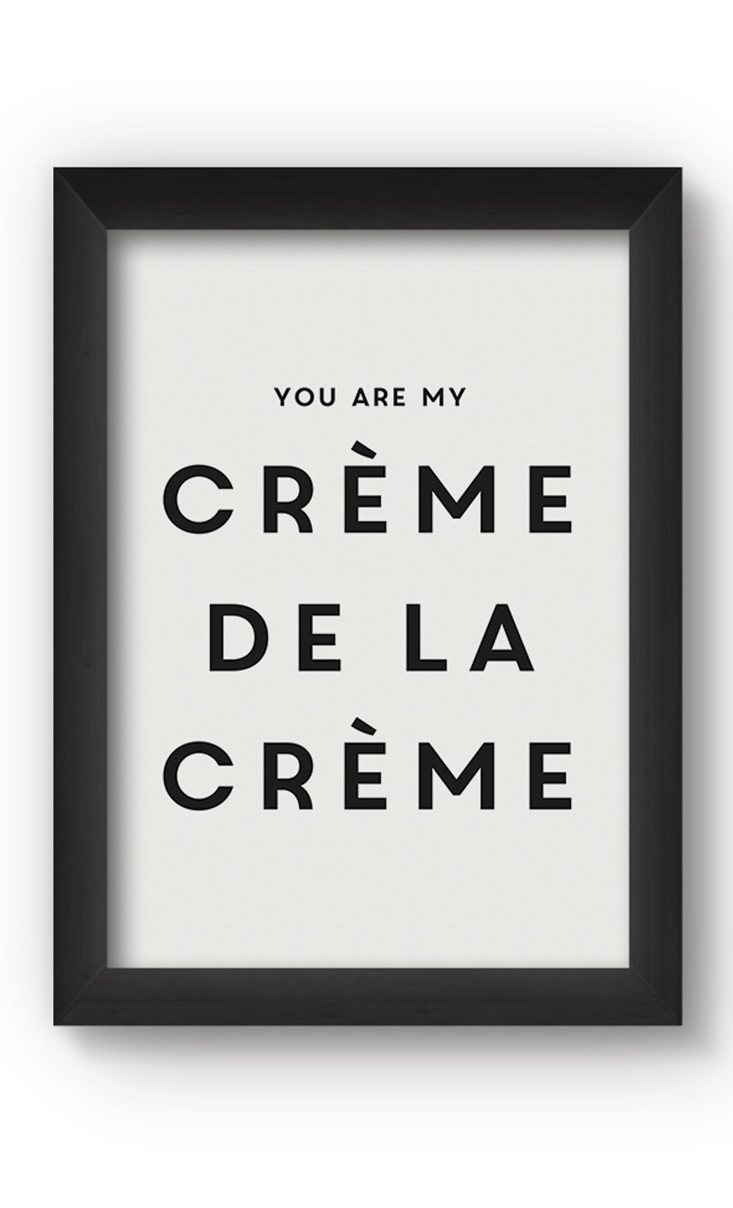 Black & White CRéME Poster. Buy Online.