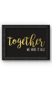 Multicolor TOGETHER Poster. Buy Online.