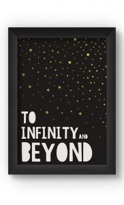Black & Gold INFINITY Poster. Buy Online.