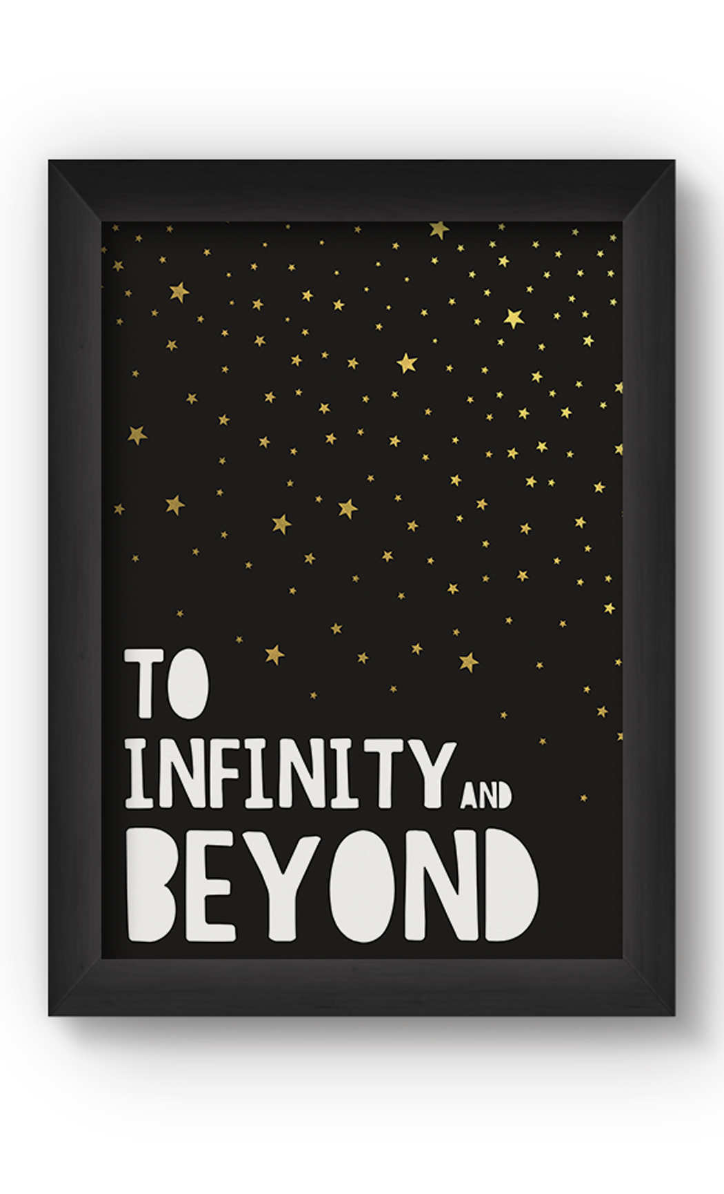 Black & Gold INFINITY Poster. Buy Online.