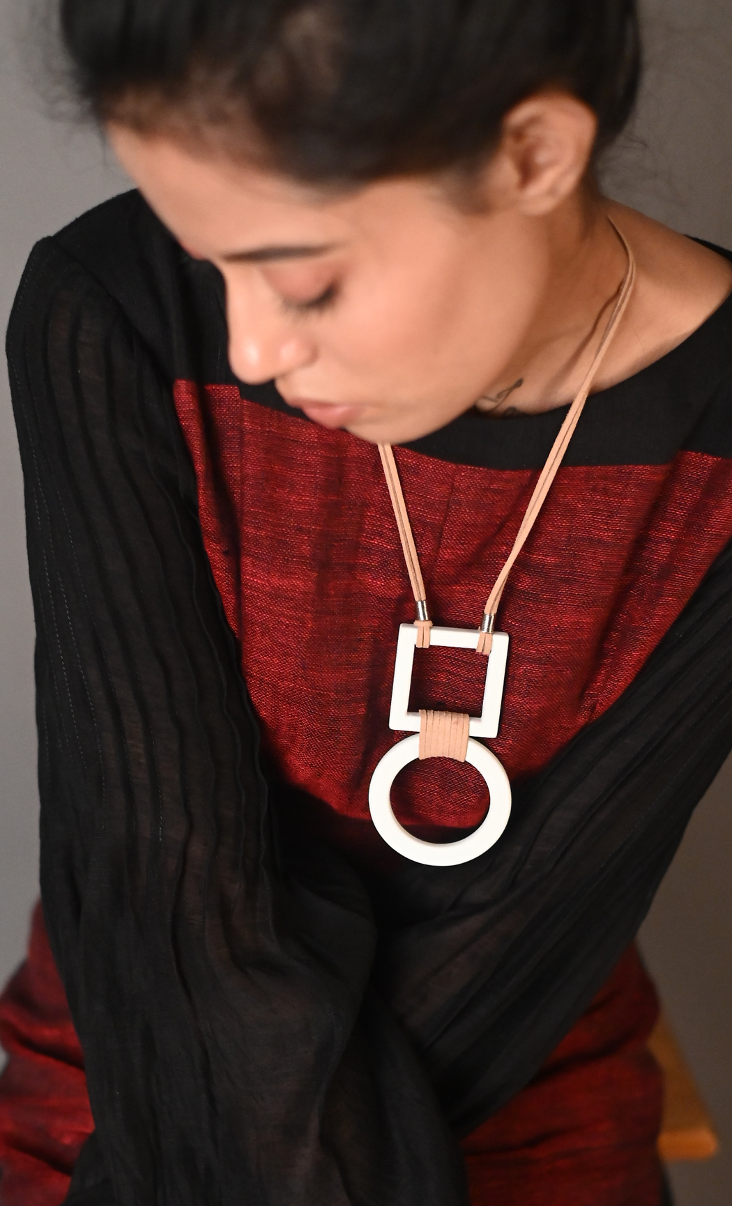 Brown Trissy Long Statement Necklace - Buy Online